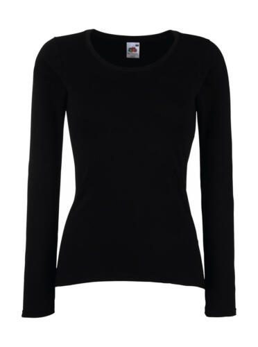 Fruit of the loom Damen T-Shirt Langarm Valueweight Value Long Sleeve Lady Fit