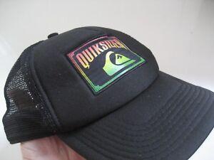 0d53ace5926 NEW Adult MEN Black QUIKSILVER HAT TRUCKER CAP One Size MESH ...