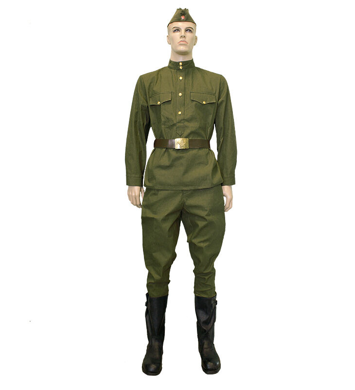 USSR ww2 wwii gimnasterka uniform  olive camouflage suit military  ARMY Russian  the newest brands outlet online