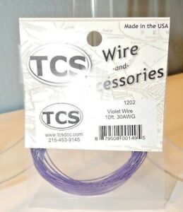 TCS #1202 Violet 10 feet of 30 Gauge Wire for DCC NEW