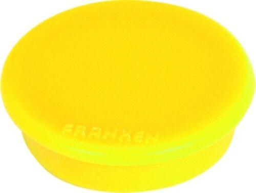 10x Franken Haftmagnet 38mm Farbe gelb NEU/&OVP