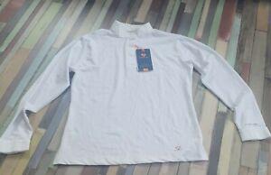 Aubrion Long Sleeve stock Show Shirt UK 14 16 large L white