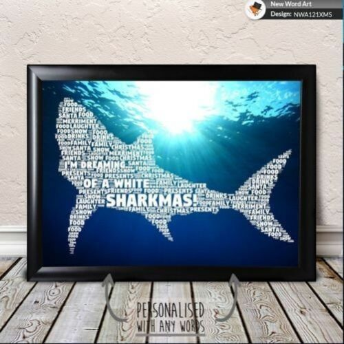 PERSONALISED GONE FISHING SHARK FISH BIRTHDAY GIFT LOVE PRESENT GIFTS PRINT?