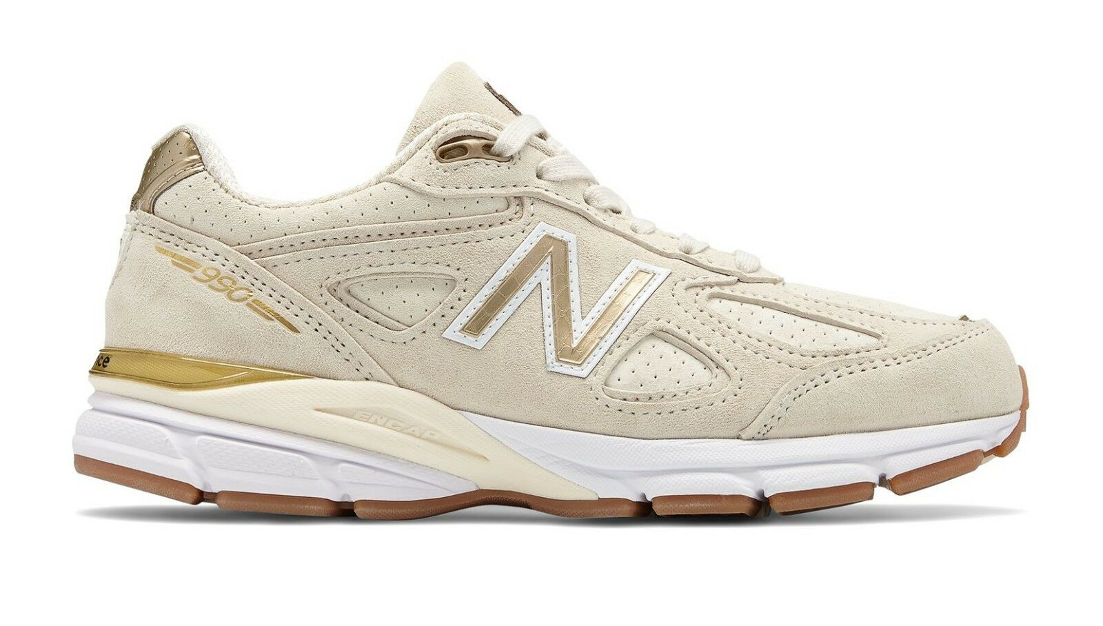 NIB New Balance MENS M990AG4 990 ANGORA SUEDE gold MADE IN USA RUNNING SNEAKERS