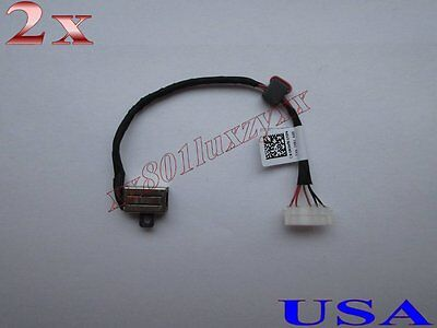 2x DC Power Jack Socket Connector Cable Harness For Dell Inspiron 5559 KD4T9 USA