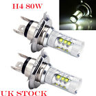 2 Pcs 80w H4 CREE LED 16-smd Xenon Fog Driving DRL Light Bulbs HID Super White