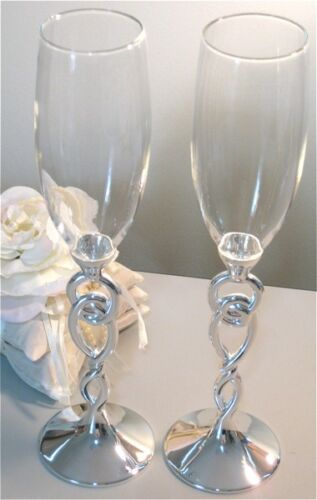 Love Knot Champagne Toasting Flutes