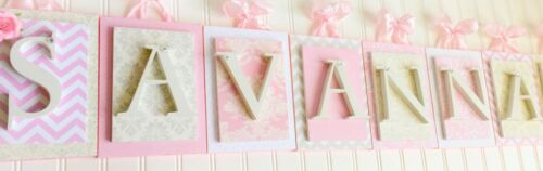 Pink Wooden Letters Baby Letters Pink Nursery Letters Girls Wall Letters