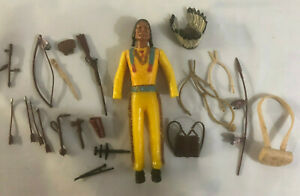 Marx-Chief-Cherokee-Action-Figure-Variant-Prototype-Waxy-Test-Non-Articulated