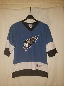 new style f1c7a 428bf Details about Boy's Vintage Logo 7 Washington Capitals Jersey Sz.L (NO Name)