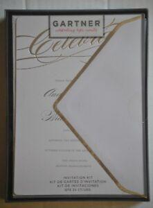 Image is loading Gartner-Silver-Foil-Celebrate-Wedding-Invitations -Envelopes-25-