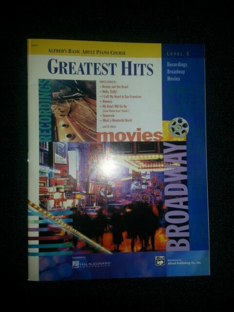"""ALFRED/'S BASIC ADULT PIANO COURSE /""""GREATEST HITS/"""" LEVEL 2 MUSIC BOOK BRAND NEW!!"""
