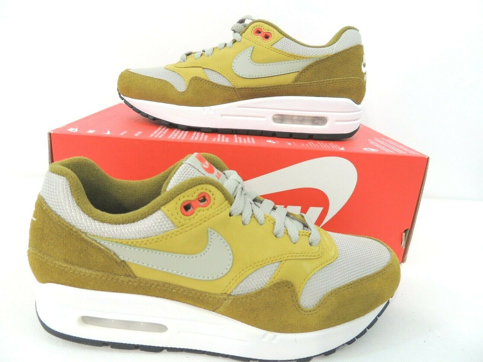 Nike Air Max 1 Premium Retro Green Curry Olive Flak Peat Moss Red 908366-300
