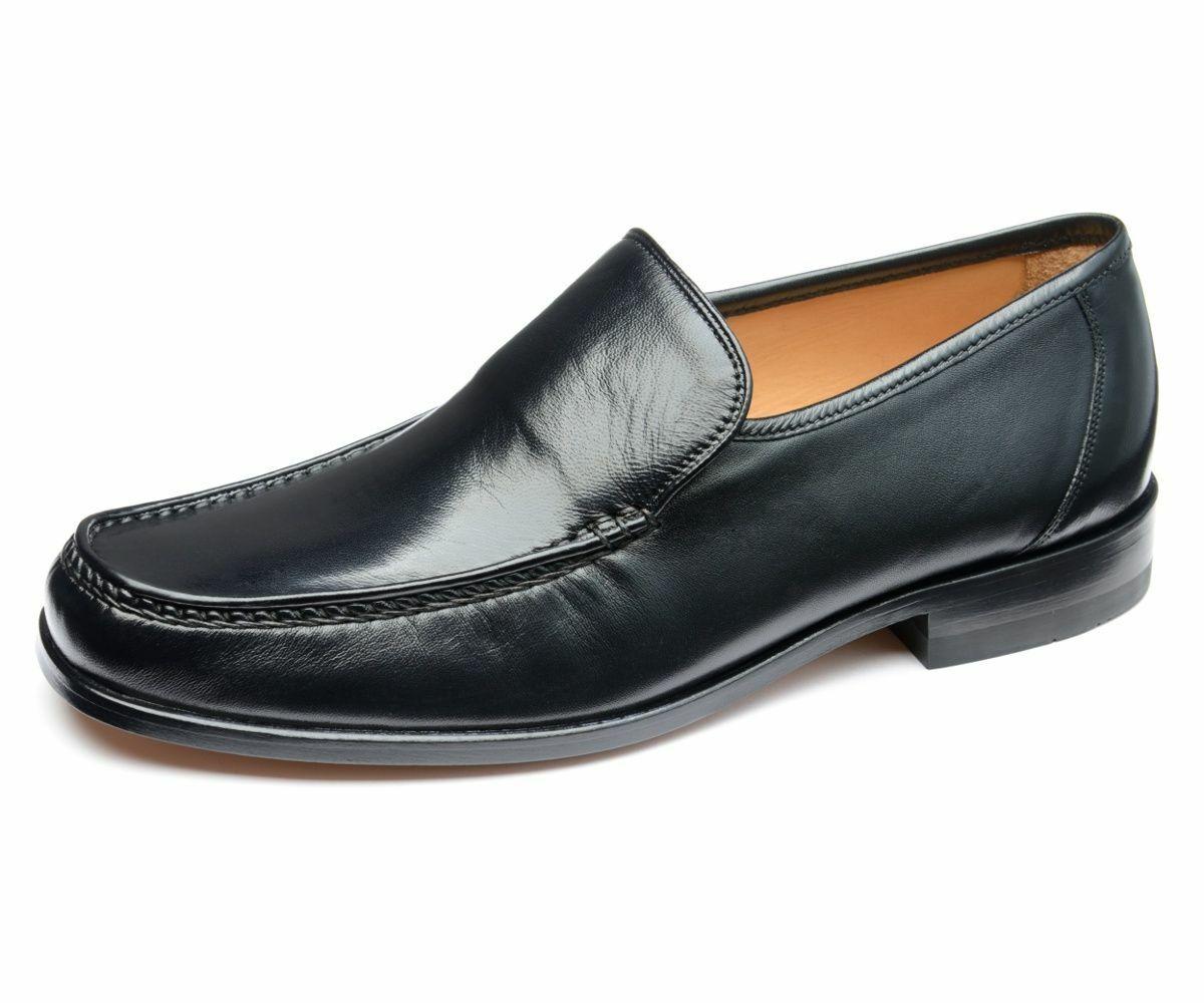 LOAKE Sienna Mocassin Enfiler Chaussures Pour Hommes En Noir Taille 8.5 F   Entièrement neuf dans sa boîte