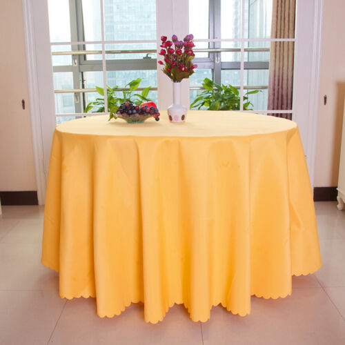 Round Tablecloth Table Cover Kitchen Dinning Wedding Party Hotel Table Cloth