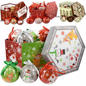 Ebay Christmas Baubles.Details About Set Of 14 Traditional Decoupage Christmas Baubles Balls Xmas Tree Decoration