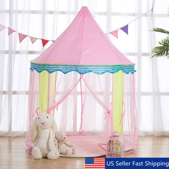 Large Princess Castle Girls Play House Indoor Outdoor Doom Kids Play Tent Play Tents Toys Hobbies