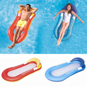 UK Summer Inflatable Floating Water Hammock Pool Lounge Bed Swimming Chair Beach