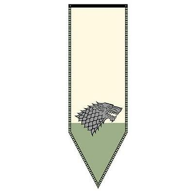 "Game of Thrones XL 60"" LICENSED House STARK WINTERFELL Dire Wolf Banner FLAG"
