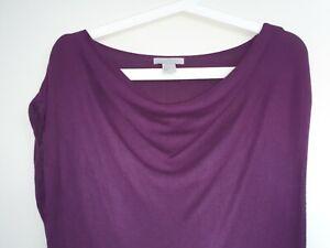 H&M Damen Kleid Strick Longshirt Wasserfallausschnitt S lila  eBay