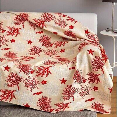 Instancabile Copriletto Singolo 1 Piazza Granfoulard Copri Divano Telo Arredo Corallo Rosso Vivace E Grande Nello Stile