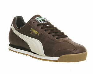 Image is loading Puma-Roma-DISTRESSED-BROWN-WHISPER-WHITE-Trainers-Shoes 398b52683