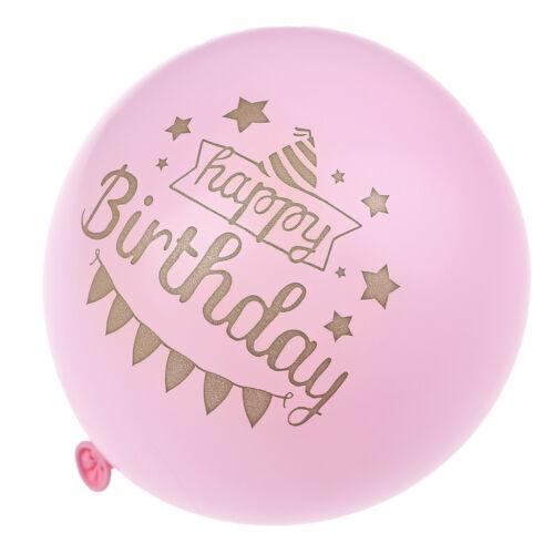 10pcs Happy Birthday balloons air balloons birthday party decorations E/&F
