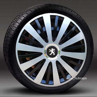 """adornos de 15/"""" Ruedas cantidad 4 Juego de 4 Tapacubos cubre para Peugeot 208"""