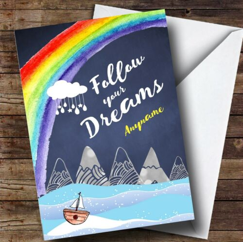 Personalised Dreaming Mountain Bon Voyage Travel Card