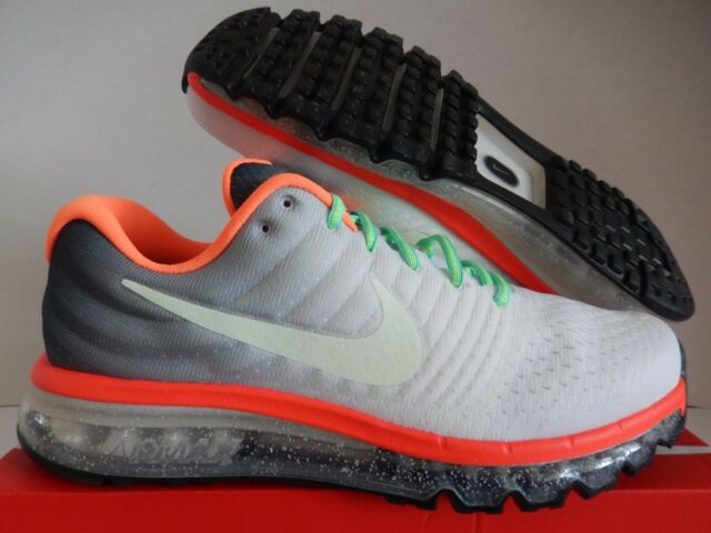 the best attitude b5298 5cbe9 NIKE AIR MAX 2017 ID WHITE-GREY SZ 11.5 GLOW IN THE DARK SWOOSH