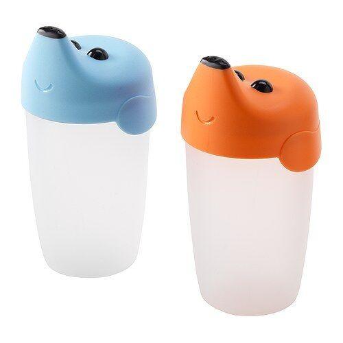 IKEA smaska bébés tout-petits 2 Pack formation Bécher 19 cl Zero AGE CUP UK-B786