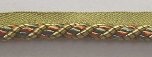 "3//8/"" Cording Trim Soft Gold Rust Mauve Sage Green Chocolate  ND302E-0632"