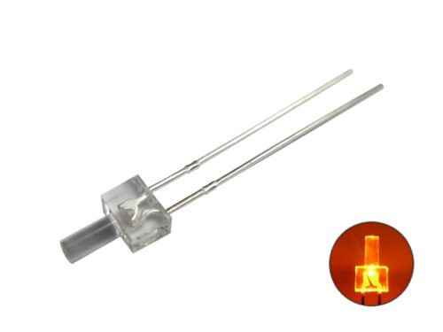S396 - 50 unid. LED 2mm naranja claro langer cabeza Tower LEDs Amber