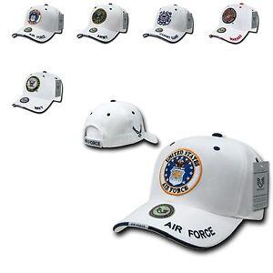 Military-Air-Force-Marines-Navy-Army-Coast-Guard-Sandwich-Ball-Hats-Caps