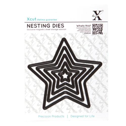 Xcut 5 pc nesting dies die 5 point star  Use in X cut sizzix big shot etc