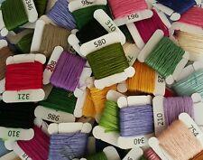 10 DMC Threads  (8 metres each) *RANDOM COLOURS*