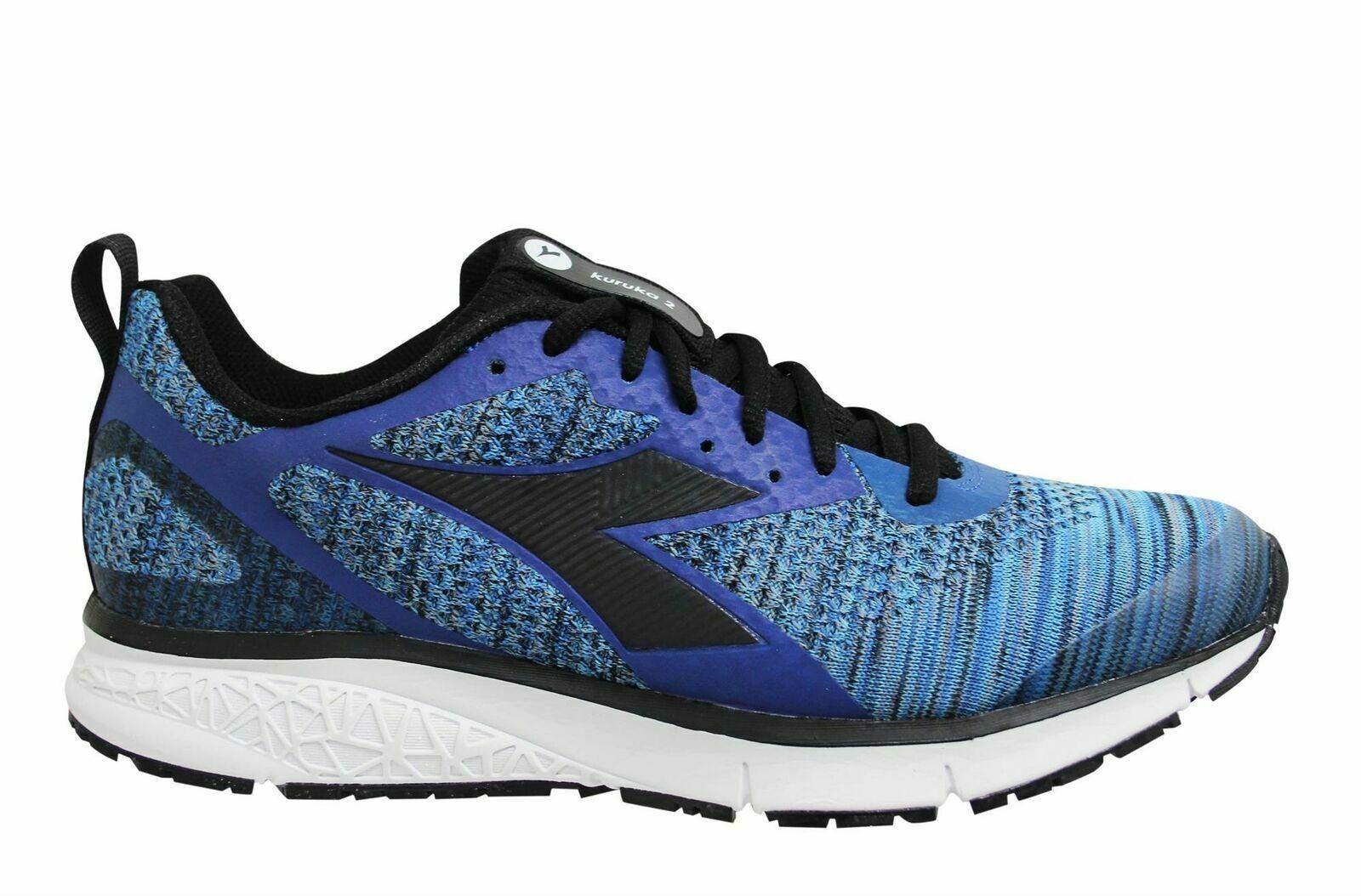 Diadora Kuruka 2 Moonlight Blue Black Low Lace Up Mens Running Trainers C5545