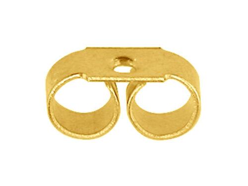 18 quilates chapado de pergamino de oro Mariposa Espalda-med Peso 18carat Reino Unido afirmaciones Estampado