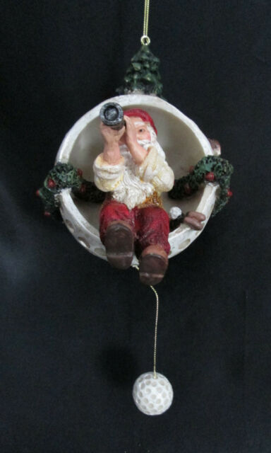 Golfing Santa Telescope Ornament Collectible Golf Gifts Gallery 1289 ...