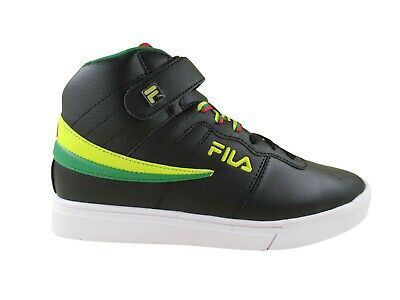 fila mens vulc 13 retro mid top black red yellow athletic