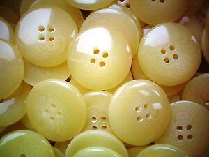 18 Mm 28l Amarillo limón con lazo con estampado de 4 Orificio Pulido Calidad Botones Z223