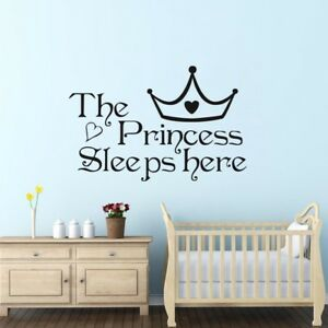 Wall sticker adesivo the princess decorazione parete cameretta bimba principessa ebay - Decorazione parete cameretta ...