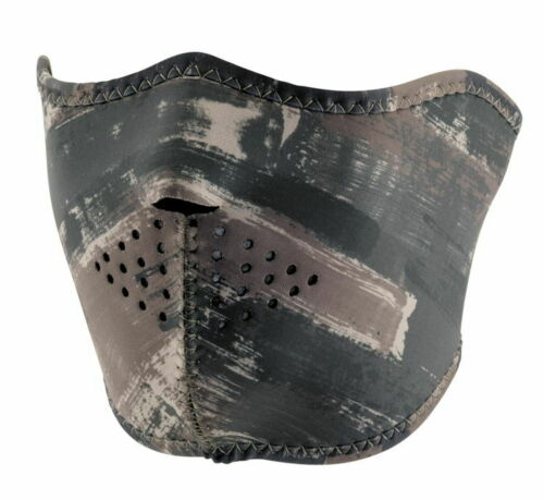 Zan Half-Face Neoprene Mask Dark Brushed Camo WNFM125H