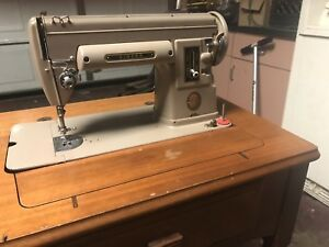 Image Is Loading Vintage 1950 039 S Singer Sewing Machine Table