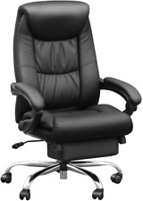 Duramont Reclining Leather Office Chair High Back Executive Chair Thick Seat