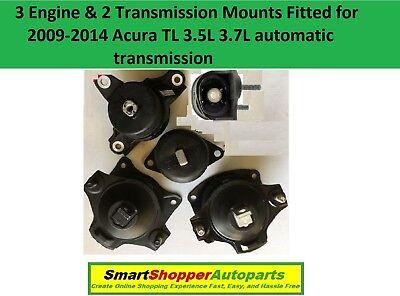 4pcSet Motor Mounts fitAUTO Acura TL 2009-2014 3.5L 3.7L Front Rear hasVacuum