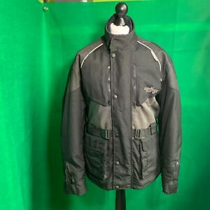 Dannisport-Textile-Motorcycle-Jacket-Size-XL-Black-VGC-FAST-POSTAGE