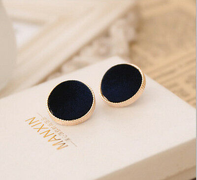 New European Vintage Round Velvet Ear Studs Earrings Fashion Jewelry Gift