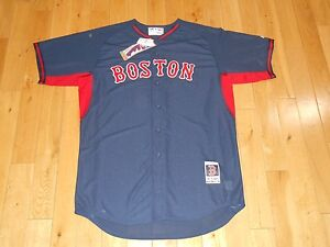 faa4ef2c6 New Blue BOSTON RED SOX Authentic Collection MLB Batting Practice ...