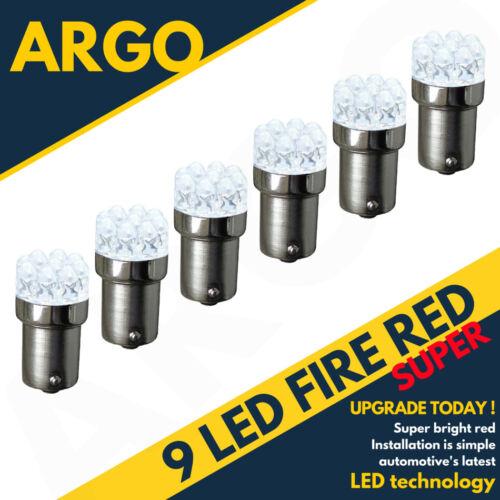 Bright Red 9 Led 380 P21//5w 1157 Car Brake Stop /& Tail Rear Bulbs Bay15d 12v